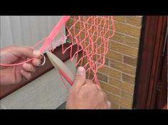 Netmaking-Tying on the bottom ring (+playlist)Freedomofabird Net Making, Lace Making, Punto Red Crochet, Basket Weaving, Hand Weaving, Hairpin Lace Crochet, Diy Crafts How To Make, Net Bag, Yarn Thread