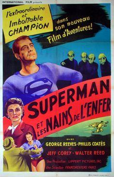 DC Comics in film n°1 - 1951 - French poster - Superman and the Mole Men (Superman et les Nains de l'enfer) by Lee Sholem