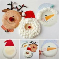 How To Make Christmas Characters Paper Plate Crafts With Kids