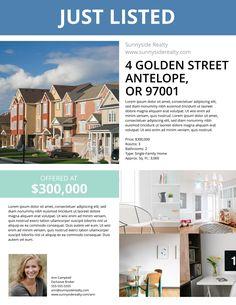 Suburban Open House Facebook Post Template Pinterest Open House - Just sold flyer template