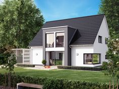 Pin on House exterior Minimal House Design, Modern Bungalow House, Best House Plans, Home Upgrades, House Extensions, House Entrance, Roof Design, Facade House, House Front