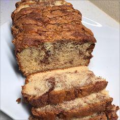 An easy quick bread with a swirl of cinnamon sugar. Bread Recipes, Baking Recipes, Cake Recipes, Baking Ideas, Dessert Recipes, Hamburger Recipes, Homemade Desserts, Homemade Breads, Easy Desserts