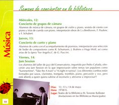 """Alumnos del Conservatorio Superior de Música de Salamanca. """"En armonía"""". Semana de conciertos en la Biblioteca. 10 y 11 de mayo 2010"""