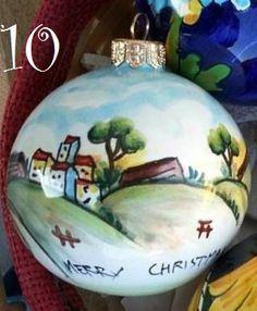 Image result for floral ceramic christmas balls