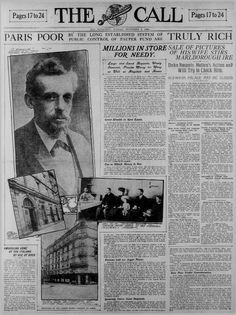 The San Francisco Call (6 Nov 1904) Sale of Pictures of His Wife Stirs. Vanderbilt ...