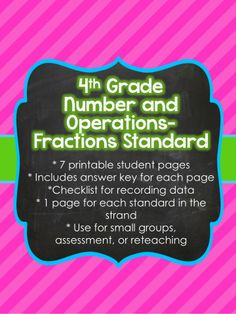 4th grade place value enrichment projects vocabulary print and go 4th grade common core number and operations fractions sheets 4 fandeluxe Gallery
