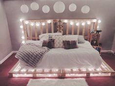 Wooden pallets and pallet furniture - pallet bed, furniture # pallet furniture - Diyprojectgardens.club - Wooden Pallets and Pallet Furniture – Pallet Bed, Furniture # Pallet Furniture - Dream Rooms, Dream Bedroom, Girls Bedroom, Master Bedroom, Modern Bedroom, Earthy Bedroom, Bedroom Romantic, Teen Girl Rooms, Queen Bedroom