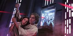 "Leia Organa and Luke Skywalker. Star Wars LCG Card ""Our Most Desperate Hour""."