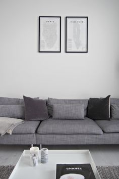Hannas Home / Livingroom / Uusia kehyksiä + arvonta Sofa, Couch, Living Room, Lifestyle, Blog, Furniture, Home Decor, Settee, Settee