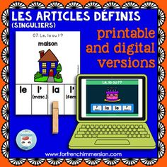 Articles définis singuliers: French definite articles | Printable & Digital Boom