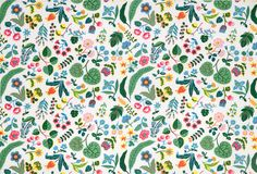 """""""Milles Fleur"""" (the French translation for a Thousand Flowers) by Josef Frank on Linen"""