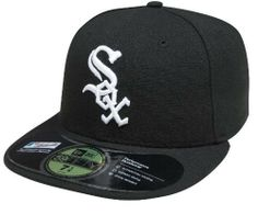 MLB Chicago White Sox Authentic On Field Game 59FIFTY Cap, Black by New Era. $17.99. Embroidered Team logo with American flag background outlined in white. Cool Base technology wicks moisture away from the head. Made in the USA. Officially licensed by Major League Baseball. synthetic. 100% Polyester fitted Authentic Baseball Cap as worn by all players on the field. Amazon.com                The official on-field cap of Major League Baseball, New Era's 59FIFTY cap is the...