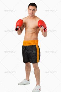 Young boxer fighting ...  25-29 years, One Person, Young Men, abs, active, arm, athlete, athletic, attractive, background, biceps, body, bodybuilder, bodybuilding, boxer, boxer shorts, boxing gloves, exercise, fist, fit, fitness, gym, handsome, health, healthy, indoors, isolated, lifestyle, mixed-race person, muscle, muscular, physical, sport, sportive, sporty, strength, strong, torso, training, white, workout