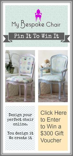 Click on the image to enter! Good luck! - Emma  #pinittowinit #contest #giveaway #mybespokechair