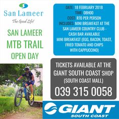 Love the outdoors and being active? Then you need to grab your tickets for our MTB Open Day at the San Lameer Estate on Sunday 18 February. Ticket price includes breakfast and a cappuccino and can be purchased from Giant South Coast. 5 Star Spa, Fried Tomatoes, Opening Day, Tropical Paradise, Mtb, Ticket, Life Is Good, February, Coast