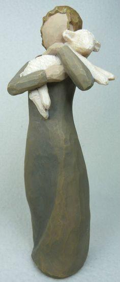 "Willow Tree ""Peace On Earth"" 2002 Susan Lordi Woman With Sheep! SWEET! No Box"