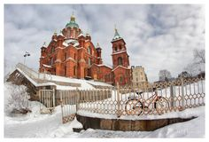 Uspenski Cathedral in Helsinki, Finland (Built in 1862–1868). Photo by Pajunen at deviantart.com