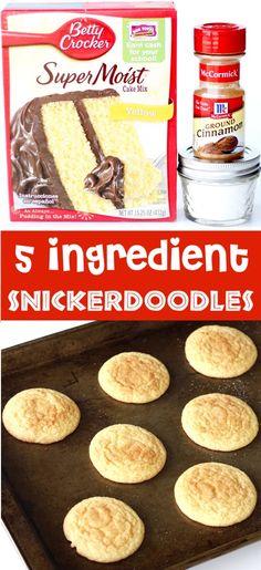 Cake Mix Cookie Recipes, Easy Cheesecake Recipes, Chocolate Cookie Recipes, Sugar Cookies Recipe, Cake Like Cookies Recipe, Simple Cookie Recipe, Home Made Cookies Recipe, Easy Homemade Cookies, Recipes Using Cake Mix