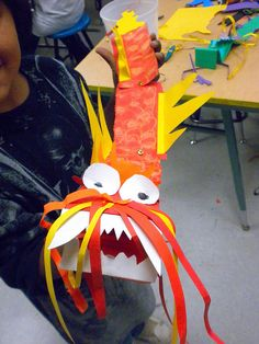 Chinese dragon: what a great arts and craft project! Especially in the Year of The Dragon!
