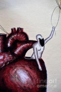 ' Open Heart ' On Canvas