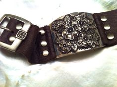 Megan Fox Rose silver leather bracelet by danaschneiderjewelry, $850.00