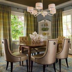 Transitional Dining Room by Melanie Coddington