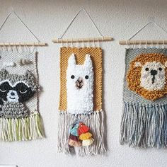 ideas baby room murals nurseries rugs for 2019 Weaving Projects, Macrame Projects, Craft Projects, Crochet Wall Hangings, Weaving Wall Hanging, Tapestry Weaving, Loom Weaving, Punch Needle Patterns, Nursery Rugs