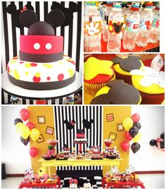 Mickey Mouse themed birthday party via Kara's Party Ideas