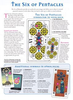 Tarot ~ pentacles 6