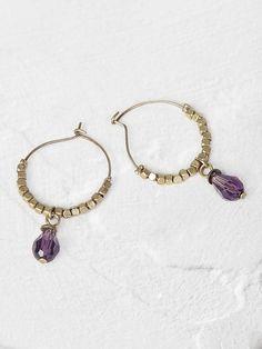 Pop bead hoop earring