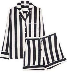 Shop on-sale IRIS & INK Devon striped silk-blend satin pajama set. Browse other discount designer Sleepwear & more on The Most Fashionable Fashion Outlet, THE OUTNET. Satin Sleepwear, Satin Pyjama Set, Satin Pajamas, Pajama Set, Nightwear, Pajama Party, Striped Pyjamas, Bodysuit, Designer Lingerie