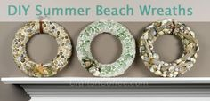 Learn how to make all three of these summertime, beach-theme wreaths on CraftsnCoffee.com. timeo