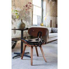 Dutchbone eetkamerstoel Blackwood  leather design