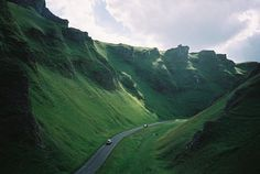 Winnats Pass, UK and it's in Derbyshire! I'm obsessed with Derbyshire. I need to go watch some Jane Austen now...