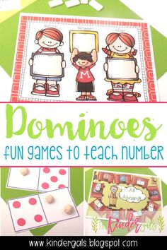 I love dominoes! Every time I see dominoes at the Dollar Tree, I have to get them. They are perfect for kindergarten math games! Here are some domino games I use to teach numbers. Kindergarten Math Games, Classroom Activities, Classroom Ideas, Preschool, Maths Resources, Teaching Numbers, Teaching Math, Teaching Ideas, Therapy Games