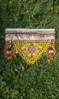 Show stopping tribal beaded belt by ForgottenPast on Etsy