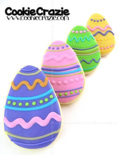 Easter Eggs  www.cookiecrazie.com