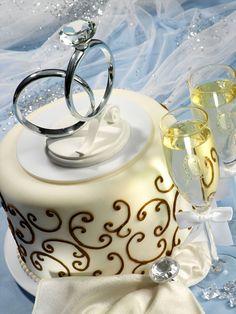 Wedding Ring Cake Topper