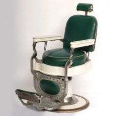 An early barber's chair, made by Theo A.