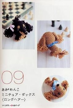 Cute Amigurumi Dachshund - FREE Crochet (Chart) Pattern / Tutorial
