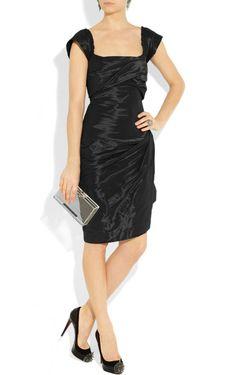 Sheath Knee-length Square Black Dress