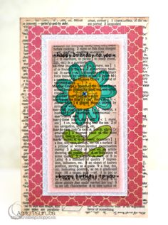 """@Amy Tsuruta - created this beautiful card using SRM Stickers for her """"happy birthday to you"""" sentiments."""