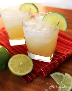 The best Margaritas cocktail recipe ever! This one comes together quickly and everyone loves it! #recipe #margarita #cocktail skiptomylou.org