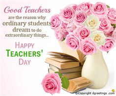 Happy Teacher's Day Wishes _ Happy Teacher's Day Messages and SMS - New Happy Quotes Happy Teachers Day Message, Teachers Day Greeting Card, Message For Teacher, Greetings For Teachers, Teacher Stuff, Teacher Gifts, Birthday Wishes For Teacher, Birthday Messages, Happy Birthday Wishes