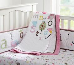 Animal Alphabet Nursery Bedding #PotteryBarnKids