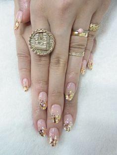nails unhas #nail #unhas #unha #nails #unhasdecoradas #nailart #gold #dourado