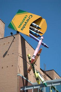 Crayola Crayons at a Crayola Factory in Easton, PA-Lehigh Valley Graffiti, Crayola Factory, Sculpture Art, Sculptures, Street Art, Instalation Art, Displays, Guerilla Marketing, Lehigh Valley
