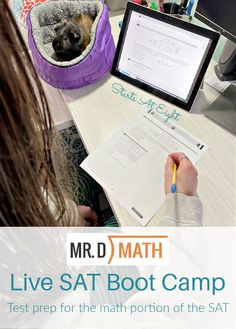 Mr. D Math Live SAT Boot Camp - StartsAtEight High School Curriculum, Homeschool Curriculum Reviews, Homeschool Math, Homeschooling, Math Live, Consumer Math, Act Math, Math Courses, Sats