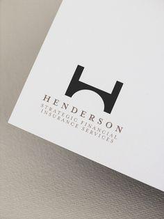 logo / Henderson Strategic Financial Insurance Services by Jian Liu, via Behance