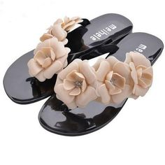 2016 New FASHION Summer Hot Women Sandals With Beautiful Camellia Flower Sweet Flip Flops #shoes, #jewelry, #women, #men, #hats